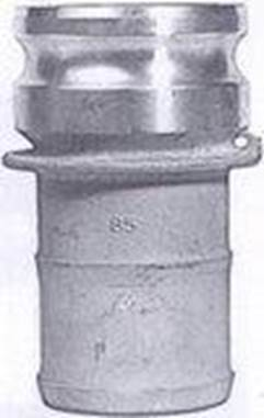 Type E – male cam with hose shank